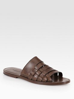 Bottega Veneta - Woven Leather Sandal