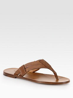 Bottega Veneta - Woven Leather Thong Sandal