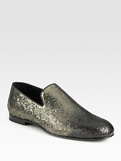 Jimmy Choo - Sloane Glitter Slipper Loafers