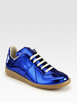 Maison Martin Margiela - Replica Metallic Lace-Up Sneakers