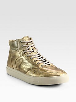 Diesel - Moonlight Invasion Metallic Leather Sneakers