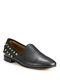 Del Toro - Studded Leather Slipper Shoe