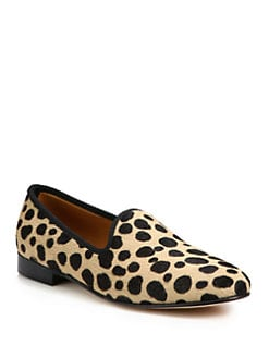Del Toro - Leopard-Print Calf Hair Slipper Shoe
