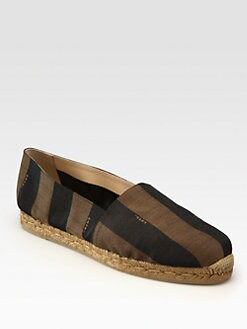 Fendi - Striped Canvas Espadrille