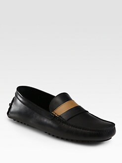 Fendi - Leather Moccasins