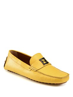 Fendi - Leather Driving Moccasins