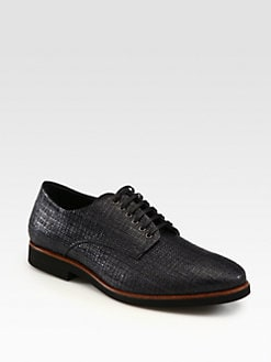 Fendi - Woven Straw Lace-Ups