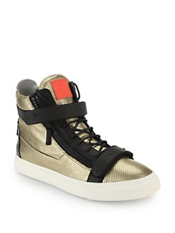 Giuseppe Zanotti Perforated Leather High-Top Sneakers