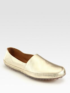 Maison Martin Margiela - Laminated Leather Slip-Ons