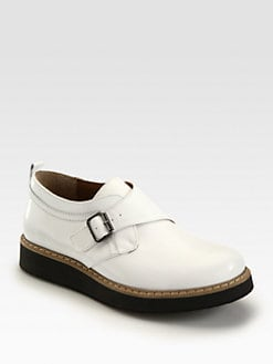 McQ Alexander McQueen - Leather Side Buckle Shoes