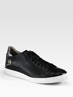 McQ Alexander McQueen - Low Cut Leather Sneakers