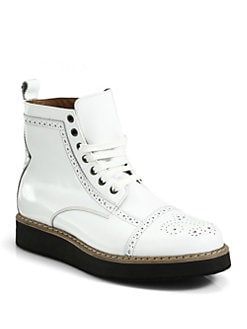 McQ Alexander McQueen - Derby Toe Brogue Boots