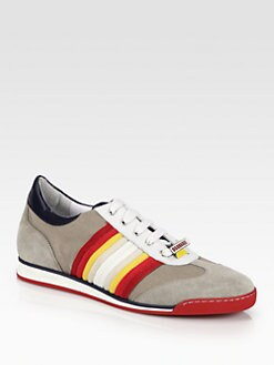DSQUARED - New Runner Multi-Striped Sneakers