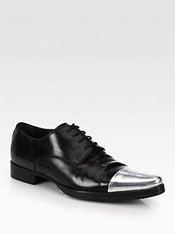 DSQUARED - Silver Cap Toe Loafers