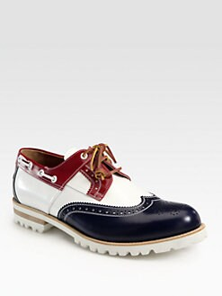 DSQUARED - Leather Lace-up Boat Shoes