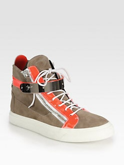 Giuseppe Zanotti - Double-Zip Bar High-Top Sneakers