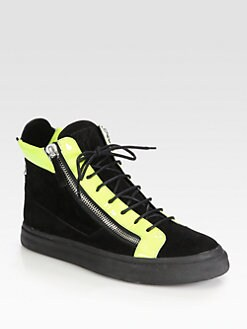 Giuseppe Zanotti - Zipped High-Top Sneakers