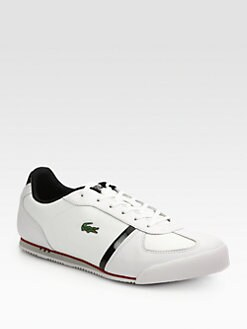 Lacoste - Leather Lace-Up Sneakers