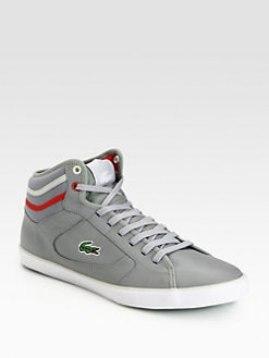 Lacoste - Leather High-Top Sneakers