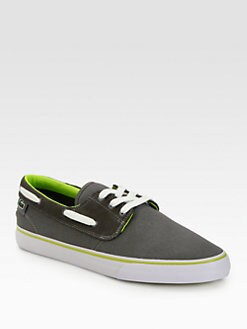 Lacoste - Canvas and Leather Boat Shoes