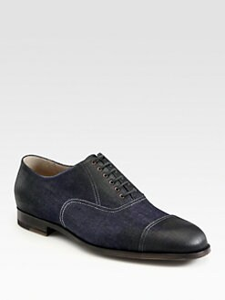 Bottega Veneta - Denim Lace-Up Loafers