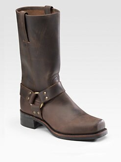 Frye - Tall Leather Harness Boots