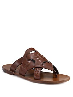Bottega Veneta - Woven Leather Thong Sandals