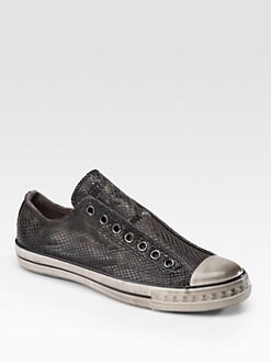 Converse by John Varvatos - Textured Leather Oxford Sneakers