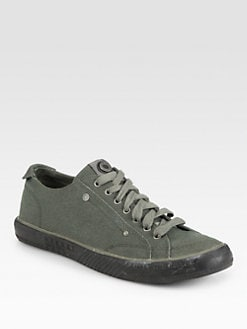 Diesel - Canvas Lace-Up Sneakers