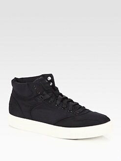 Diesel - Suede Lace-Up Sneakers