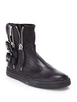 Giuseppe Zanotti - Double Zip & Strap Leather Boots