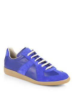 Maison Martin Margiela - Leather Lace-Up Sneakers