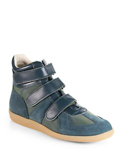 Maison Martin Margiela - Suede High-Top Sneakers