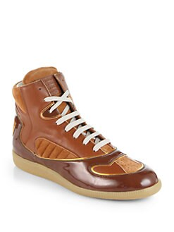 Maison Martin Margiela - Piped High-Top Sneakers