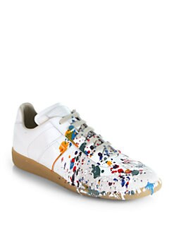 Maison Martin Margiela - Splatter Paint Lace-Up Sneakers