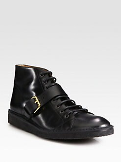 Marc Jacobs - Leather Lace-Up Bootie