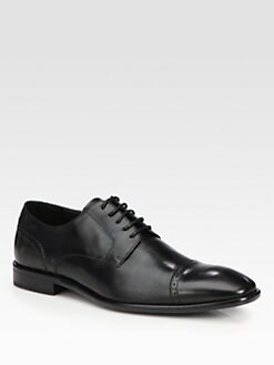 BOSS Black - Leather Captoe Lace-Up