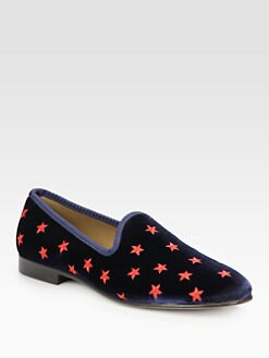 Del Toro - Star Embroidered Slipper Shoe