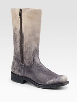 Frye - Heath Distressed Leather Boots