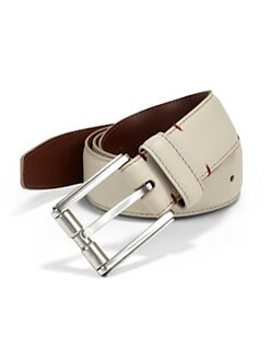 Saks Fifth Avenue Collection - Pebbled Leather Belt