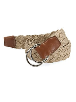 Saks Fifth Avenue Men's Collection - Woven Linen Belt