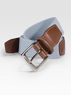 Saks Fifth Avenue Men's Collection - Woven Cotton Belt
