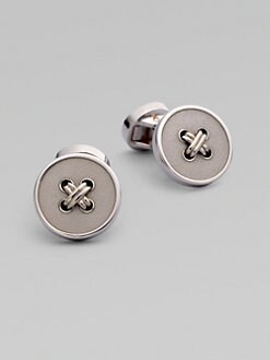 Saks Fifth Avenue Men's Collection - Sterling Silver Button Cufflinks