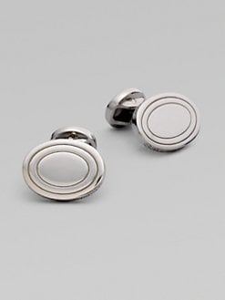 Saks Fifth Avenue Men's Collection - Sterling Silver Oval Cuff Links