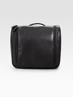 Saks Fifth Avenue Men's Collection - Hanging Leather Travel Kit