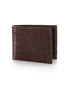 Saks Fifth Avenue Men's Collection - Lizard Billfold Wallet