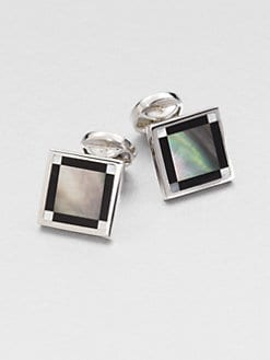 Saks Fifth Avenue Collection - Onyx & Mother-of-Pearl Cuff Links