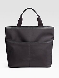 Saks Fifth Avenue Men's Collection - Chevron Nylon Bag