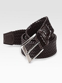 Saks Fifth Avenue Men's Collection - Woven Leather Belt