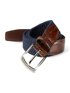 Saks Fifth Avenue Men's Collection - Woven Belt